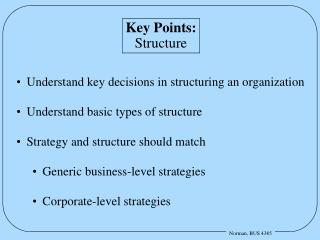 Key Points: Structure
