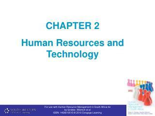 CHAPTER 2  Human Resources and Technology