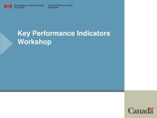 Key Performance Indicators Workshop