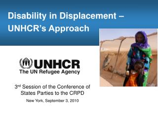Disability in Displacement –  UNHCR's Approach