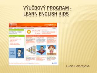 V ýučbový  program - Learn English  KIDS