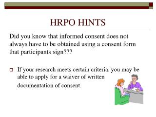 HRPO HINTS