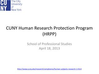 CUNY Human Research Protection Program (HRPP)