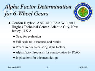 Alpha Factor Determination for 6-Wheel Gears