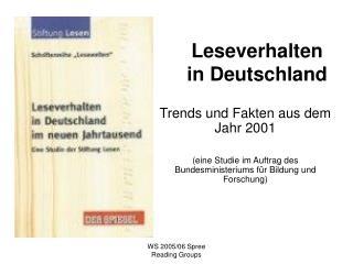 Leseverhalten in Deutschland