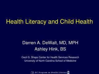 Health Literacy and Child Health
