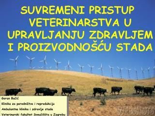 Goran Bačić Klinika za porodništvo i reprodukciju  Ambulantna klinika i zdravlje stada
