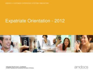 Expatriate Orientation - 2012