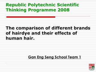 Gan Eng Seng School Team 1