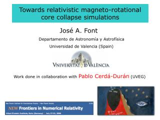 Towards relativistic magneto-rotational core collapse simulations