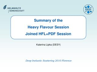 Summary of the  Heavy Flavour Session  Joined HFL+PDF Session