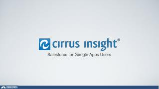 Salesforce for Google Apps Users