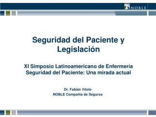 Dr. Fabián Vítolo NOBLE Compañía de Seguros