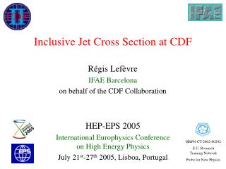 Inclusive Jet Cross Section at CDF