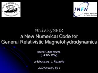 WhiskyMHD :  a New Numerical Code for  General Relativistic Magnetohydrodynamics