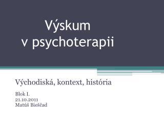 Výskum  v psychoterapii