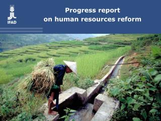 Progress report on human resources reform