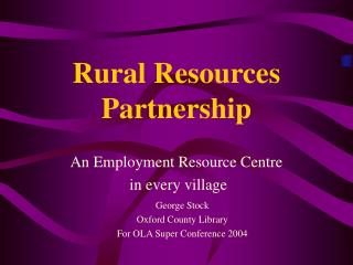 Rural Resources Partnership