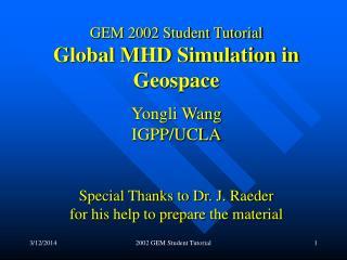 2002 GEM Student Tutorial