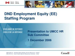 DND Employment Equity (EE) Staffing Program