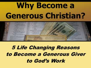 Why Become a Generous Christian