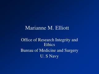Marianne M. Elliott