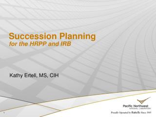 Succession Planning for the HRPP and IRB