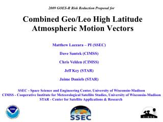 Combined Geo/Leo High Latitude Atmospheric Motion Vectors