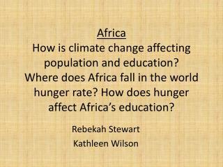 Rebekah Stewart Kathleen Wilson