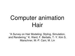 Computer animation  Hair