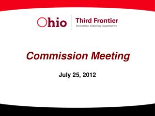 Commission Meeting July 25, 2012