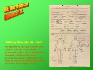 JFK: The Medical Evidence [7].