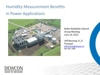 Humidity Measurement Benefits  in Power Applications