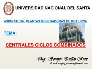 CENTRALES CICLOS COMBINADOS