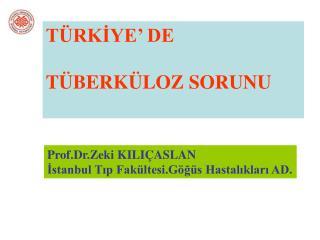 TÜRKİYE' DE  TÜBERKÜLOZ SORUNU