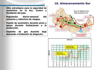 Sitio estratégico para la seguridad de suministro en el Sur, Centro y Occidente del país.