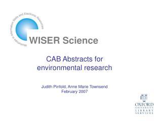 WISER Science