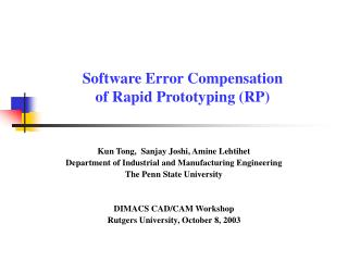 Software Error Compensation  of Rapid Prototyping RP