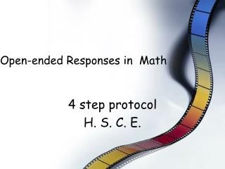 Open-ended Responses in  Math