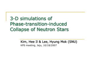 3-D simulations of  Phase-transition-induced Collapse of Neutron Stars