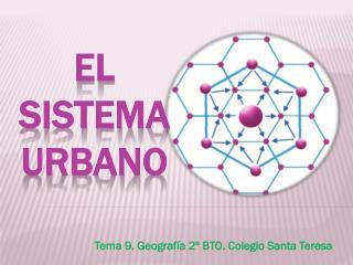 Tema 9. Geografía 2º BTO. Colegio Santa Teresa