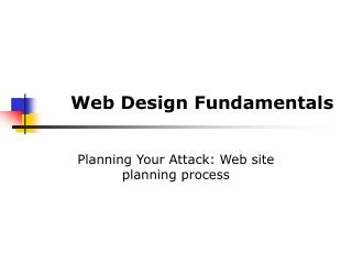 Web Design Fundamentals