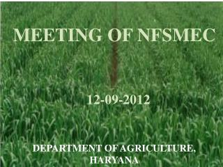 MEETING OF NFSMEC 12-09-2012
