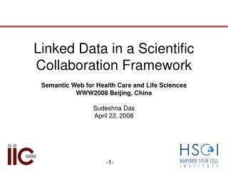 Linked Data in a Scientific Collaboration Framework