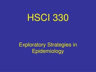 HSCI 330
