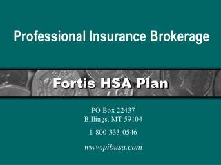 Fortis HSA Plan