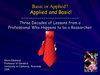 Basic or Applied  Applied and Basic ------------------------------- Three Decades of Lessons from a  Professional Who Ha