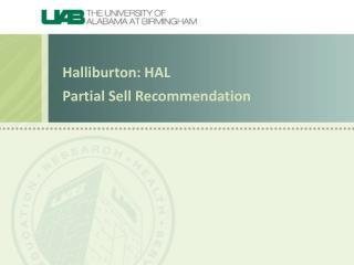 Halliburton: HAL