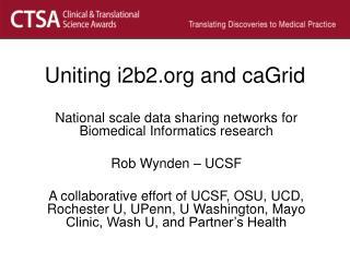 Uniting i2b2 and caGrid