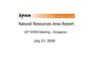 Natural Resources Area Report